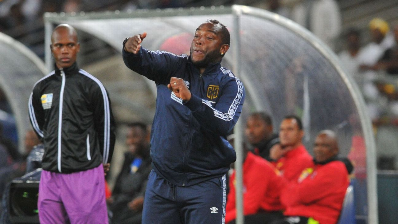 Cape Town City FC coach Benni McCarthy on the sidelines during the 2018 MTN8 final