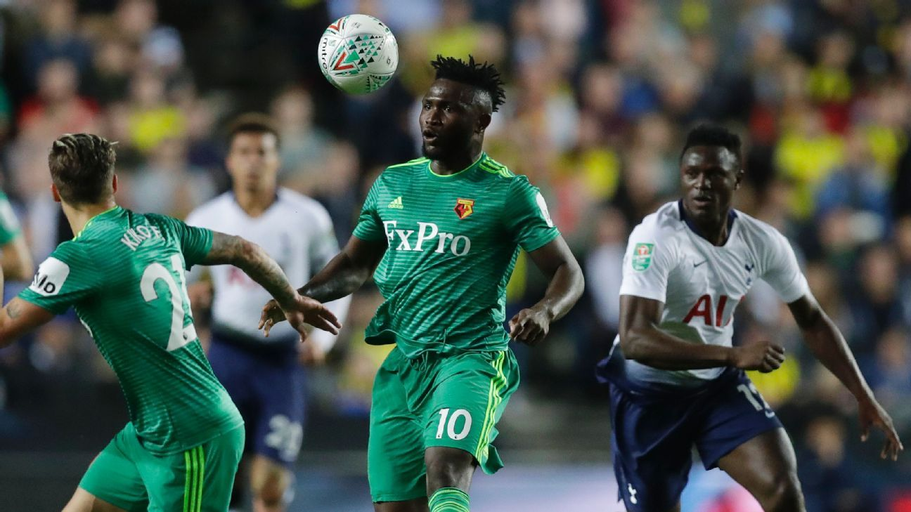 Isaac Success reminded Watford and Nigeria fans what he could do by scoring against Tottenham Hotspur in the Carabao Cup