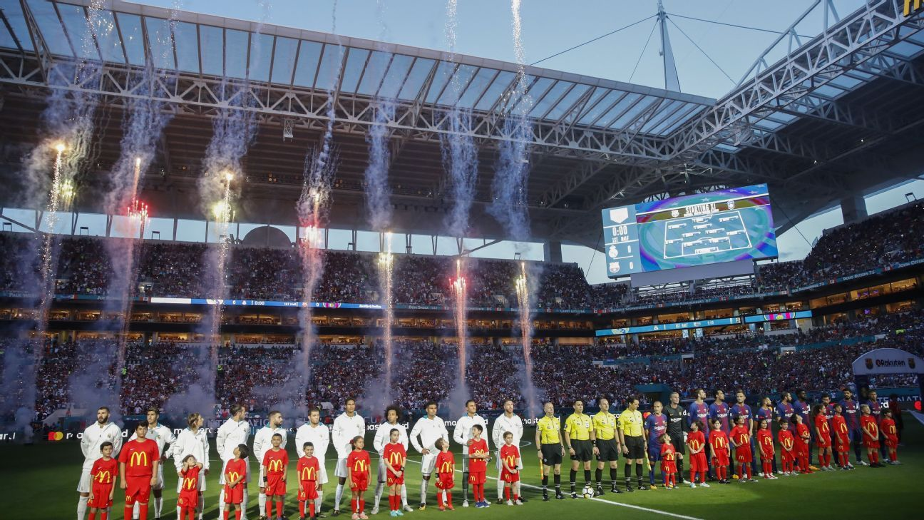 Miami's Hard Rock Stadium has hosted several notable friendlies, including Barcelona-Real Madrid in 2017.