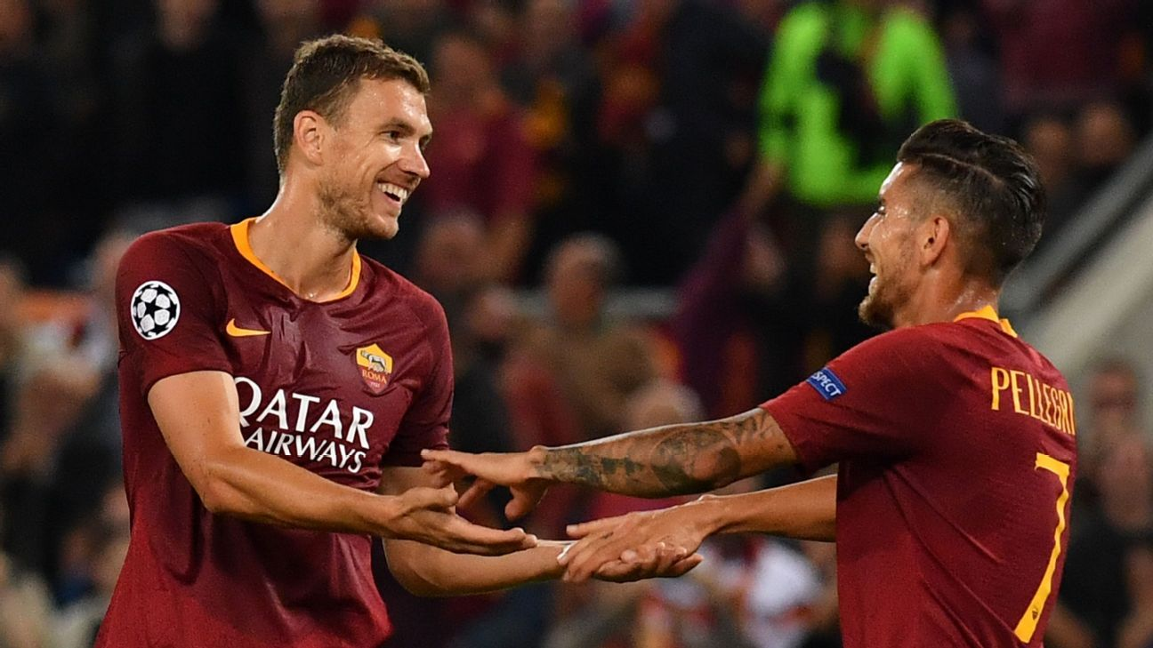 Edin Dzeko snapped out of his early-season funk with a hat trick vs. Viktoria Plzen.