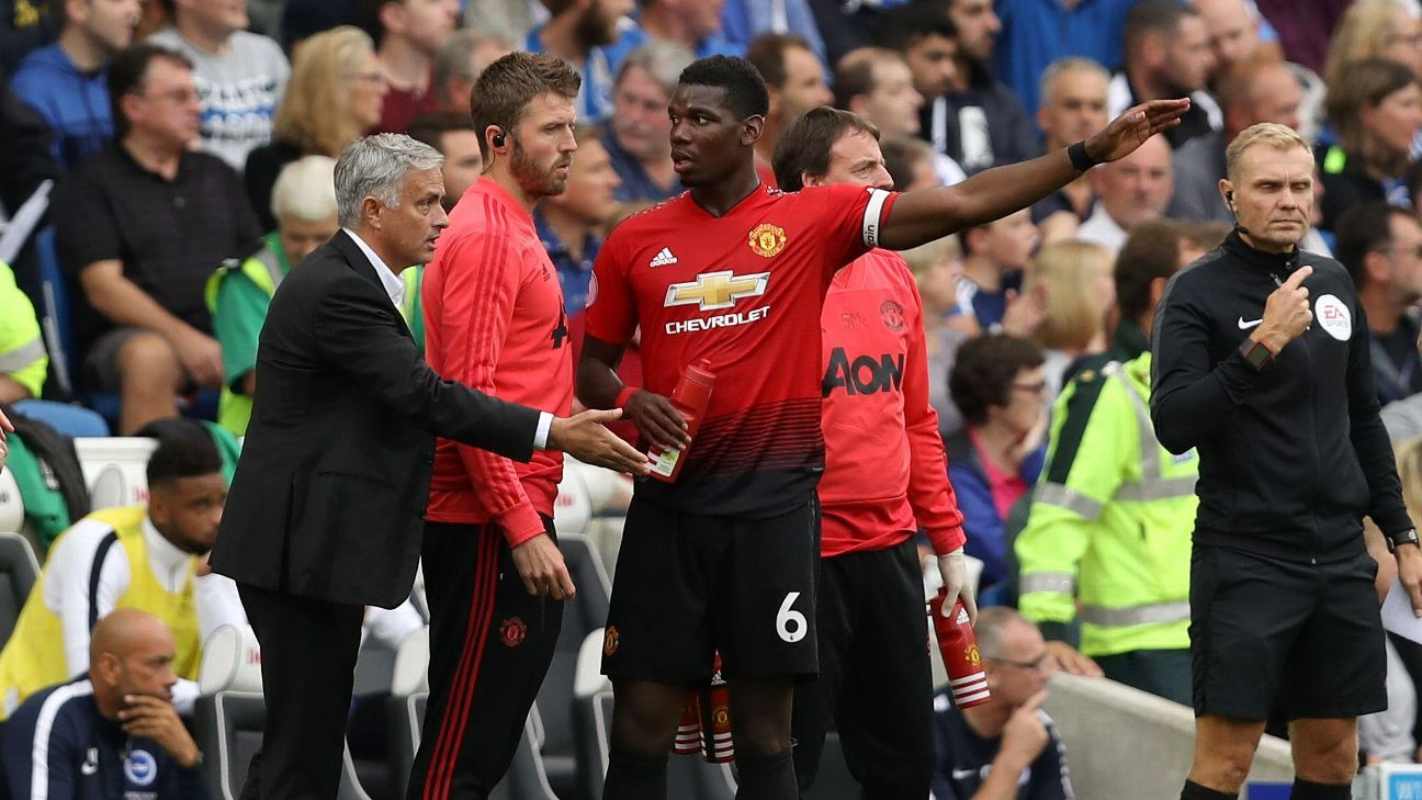 The feud between Jose Mourinho and Paul Pogba perfectly illustrates the current identity crisis at Man United.