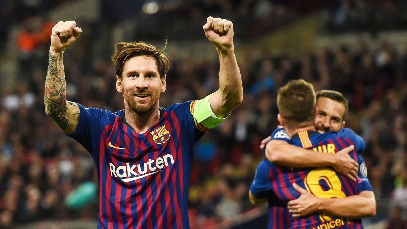 Lionel Messi was the star man again for Barcelona, scoring, assisting and dominating the ball vs Tottenham.
