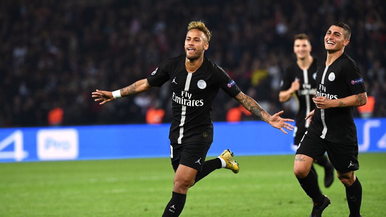 Neymar scored a brilliant hat trick against Red Star, two of the goals coming from free kicks.