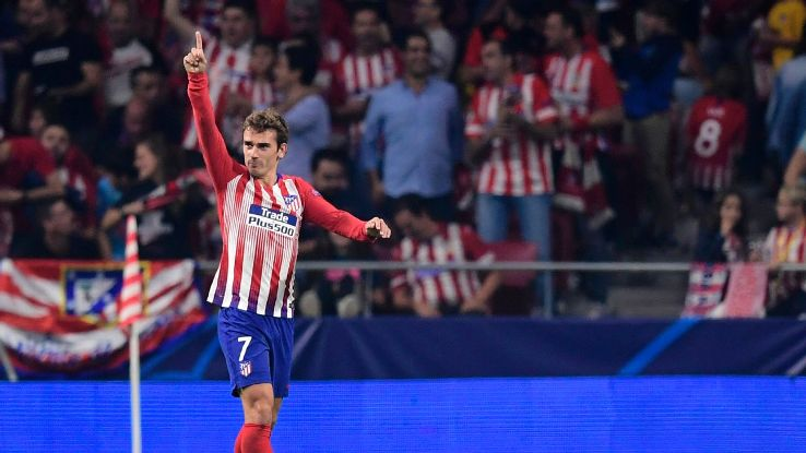 Atletico Madrid's Antoine Griezmann now has four goals and four assists in all competitions this season.