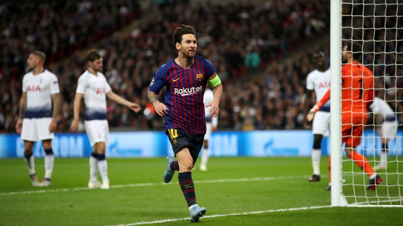 Lionel Messi delivered his latest Champions League masterpiece with two goals and an assist vs. Spurs.