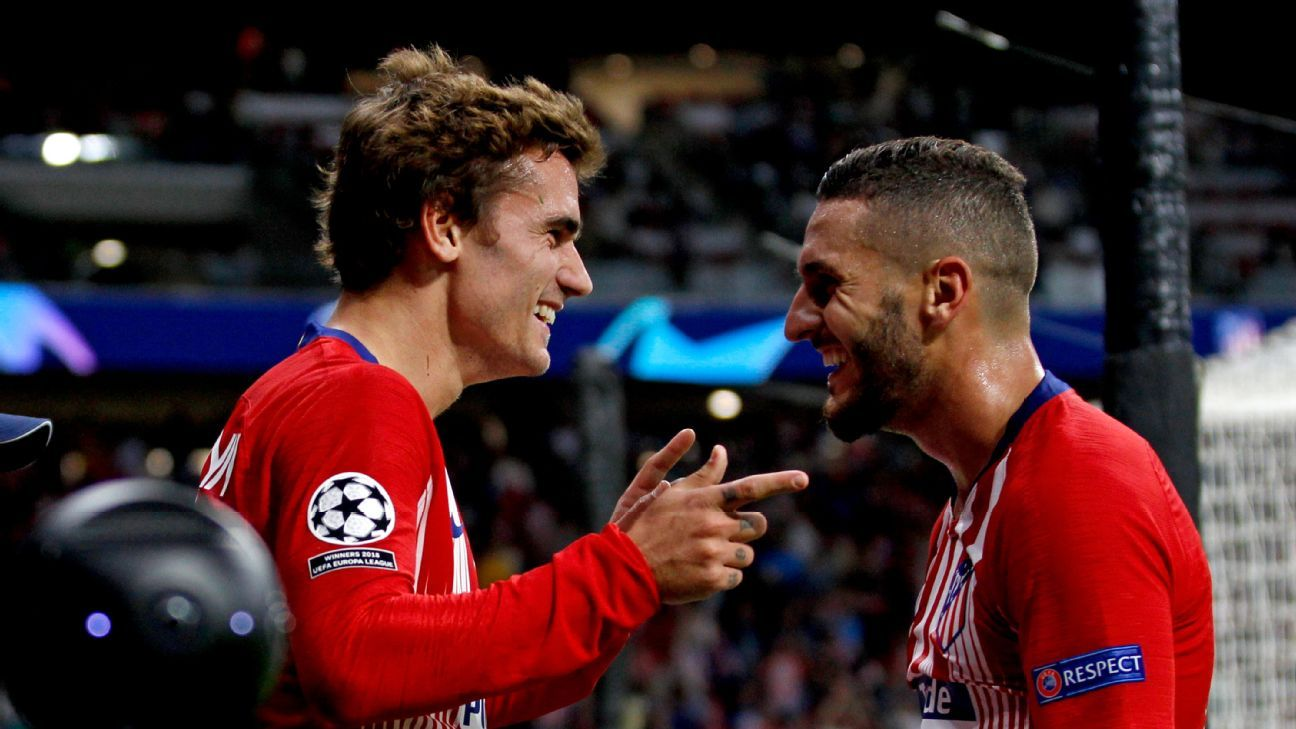 Antoine Griezmann was the star man against Club Brugge, scoring two goals as Atletico won 3-1.