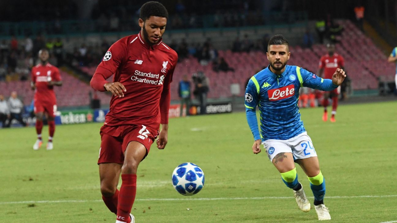 Joe Gomez was one of the few positives in Liverpool's poor showing against Napoli.