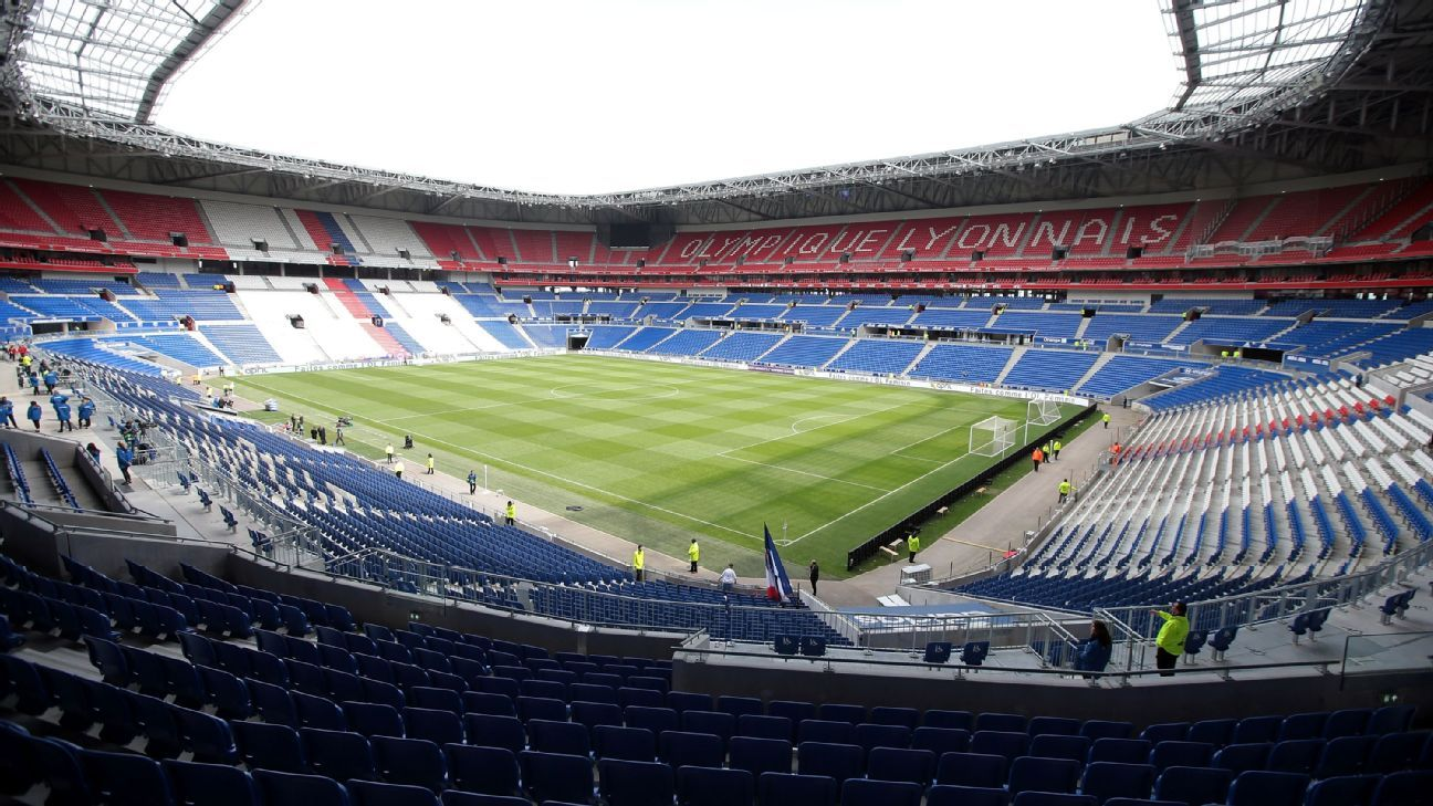 The Groupama Stadium in Lyon, France.