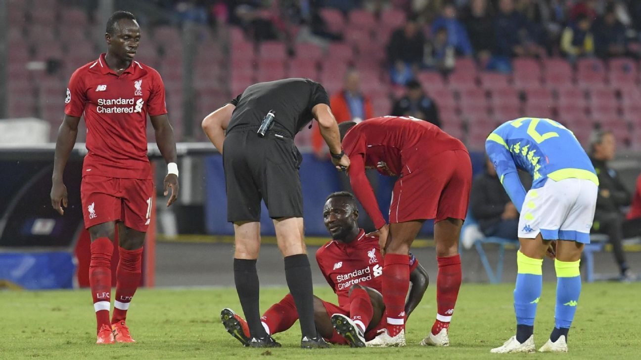 Sources tell ESPN FC it is too early to tell whether Naby Keita will be ruled out for Sunday's big clash against Manchester City.