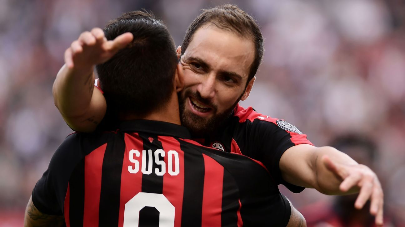 Higuain and Suso were at their devastating best as Milan thumped Chievo on Sunday.