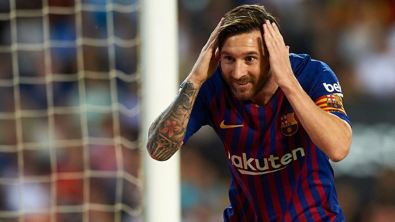Lionel Messi got his side level though couldn't find a breakthrough as Barcelona drew 1-1 in Valencia.