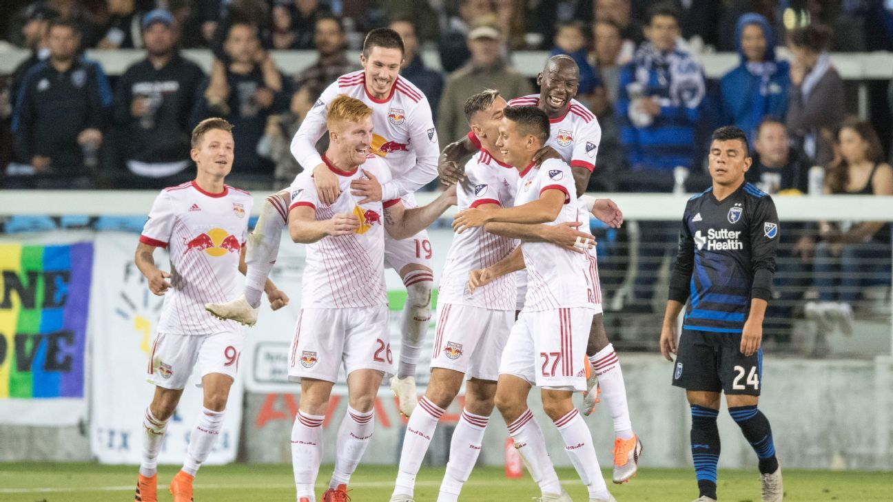 New York Red Bulls celebrate