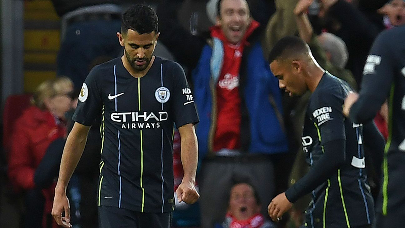 Riyad Mahrez and Gabriel Jesus