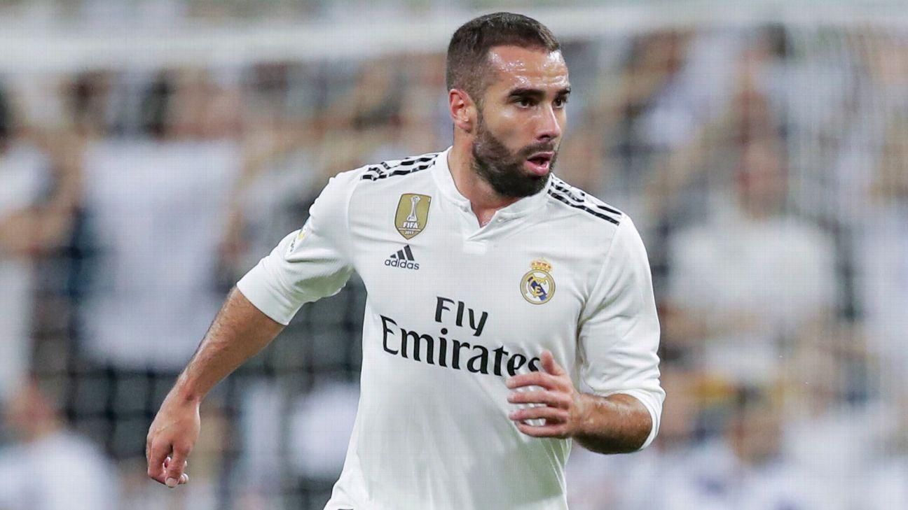 Real Madrid defender Dani Carvajal
