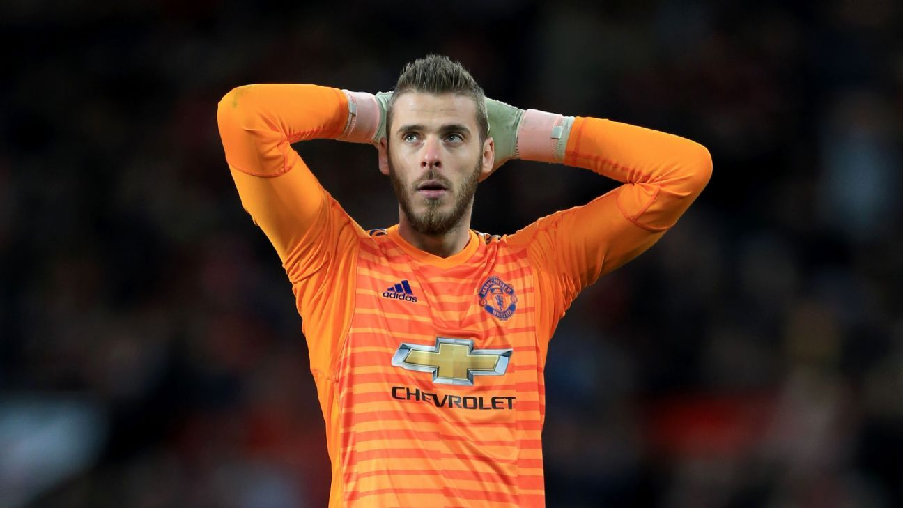 David De Gea's uncertain long-term future again a story at Man United.