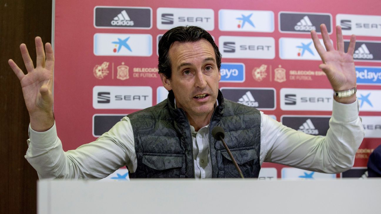 Unai Emery won an unprecedented three consecutive Europa Leagues with Sevilla before moving to PSG