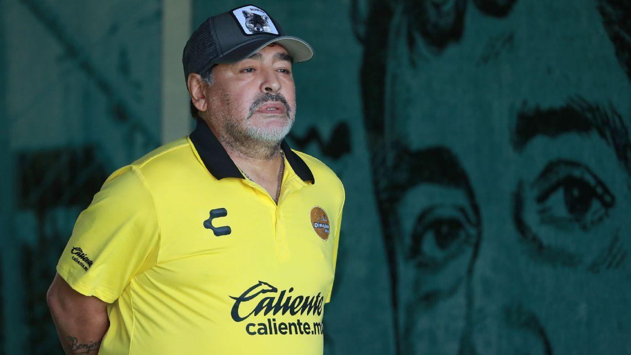 Dorados de Sinaloa coach Diego Armando Maradona