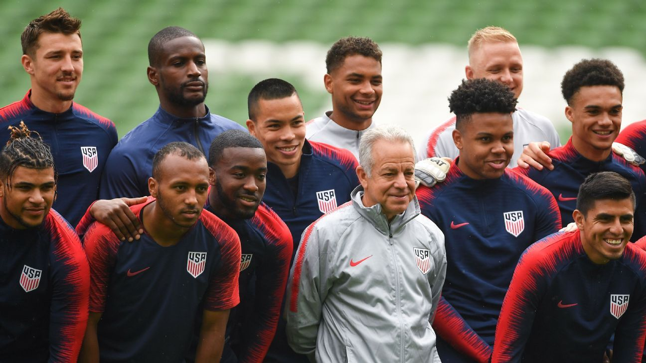 The U.S. have had Dave Sarachan, center, in charge since October 2017 but there is concern that the long-term wait to name a permanent coach is distracting.