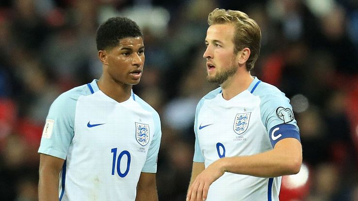 Marcus Rashford and Harry Kane