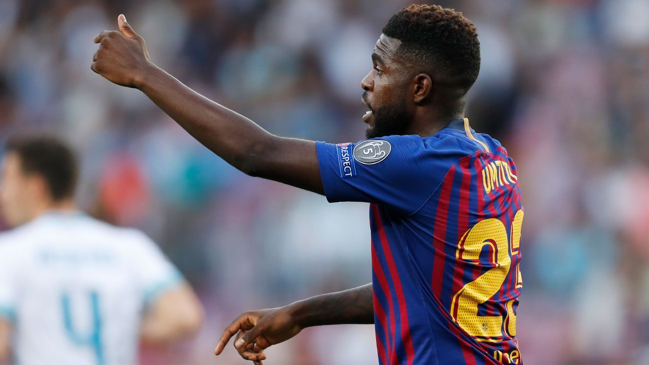 Samuel Umtiti hasn't featured for Barcelona since September.