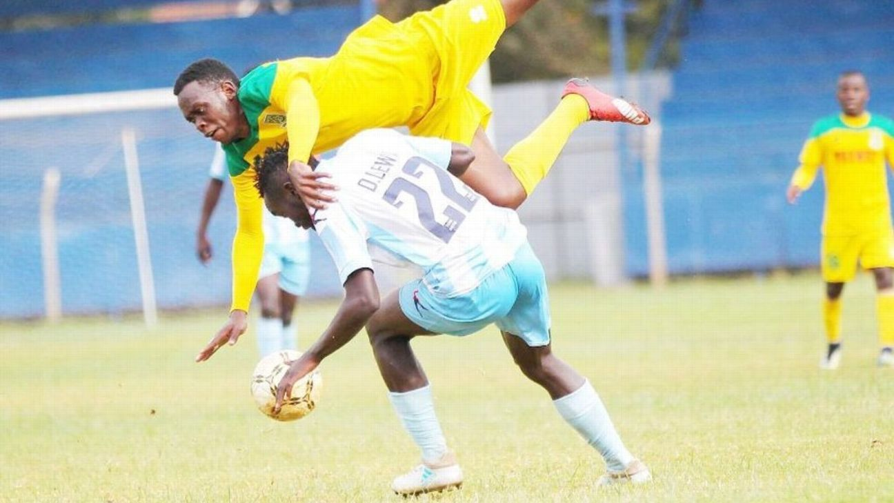 The late Dennis Lewa of Thika United in action