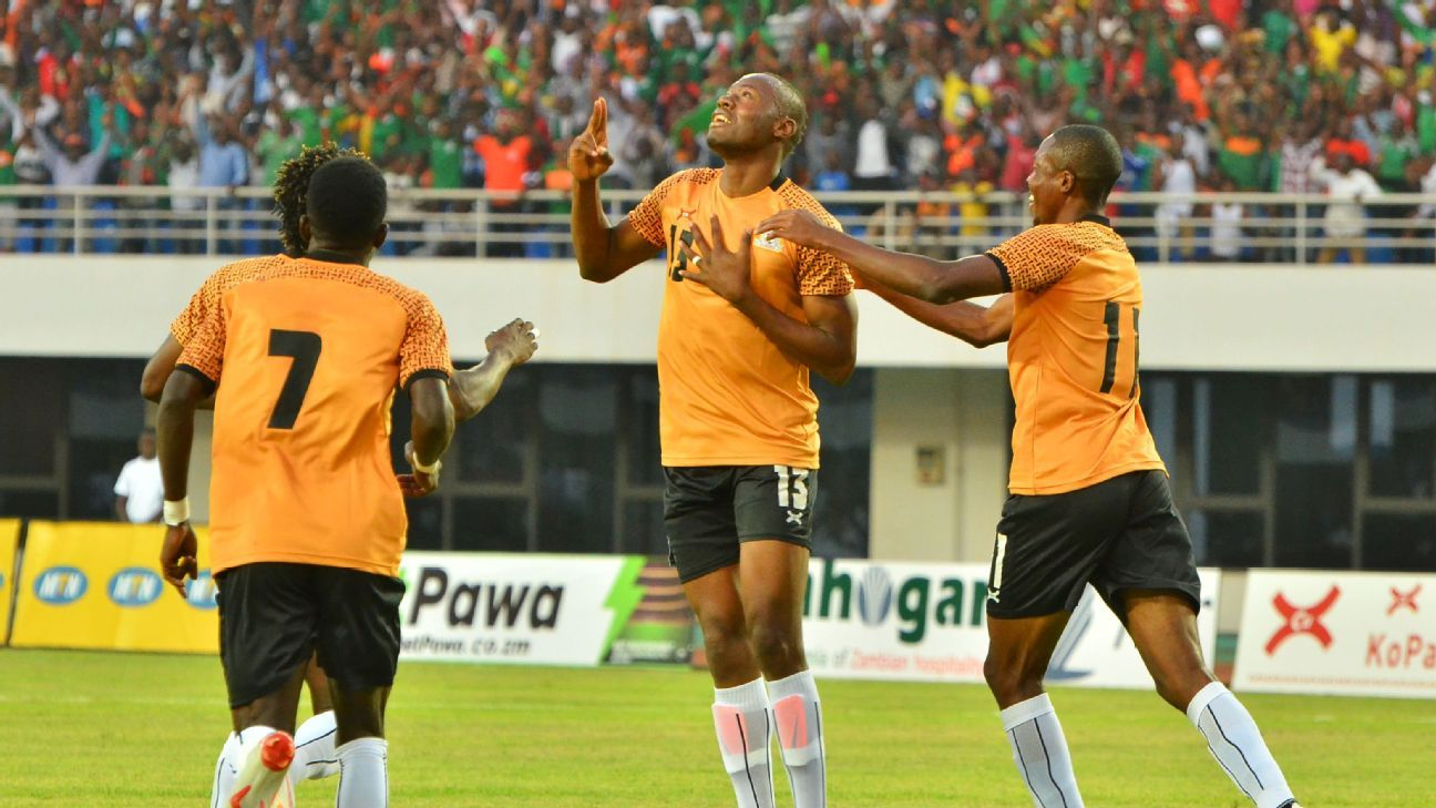Stoppila Sunzu and Zambia celebrate
