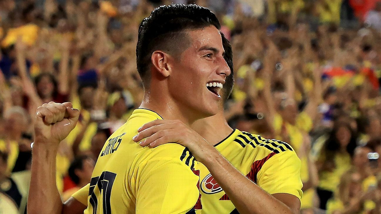 Colombia and James Rodriguez outclass United States in Tampa friendly