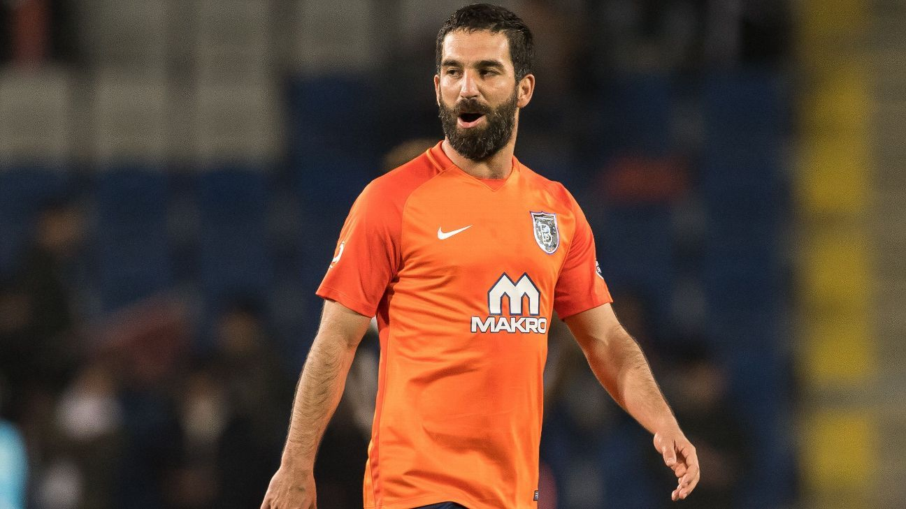 Arda Turan in action for Istanbul Basaksehir