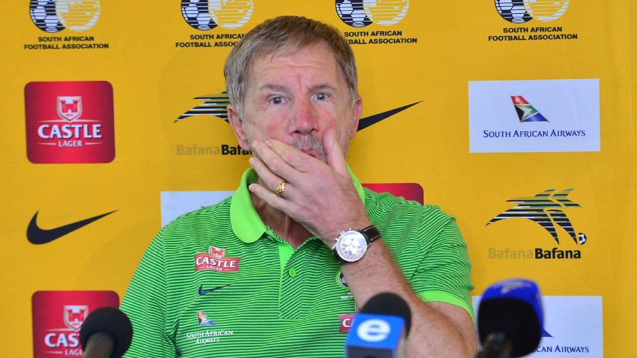 South Africa coach Stuart Baxter during a Bafana Bafana departures press conference