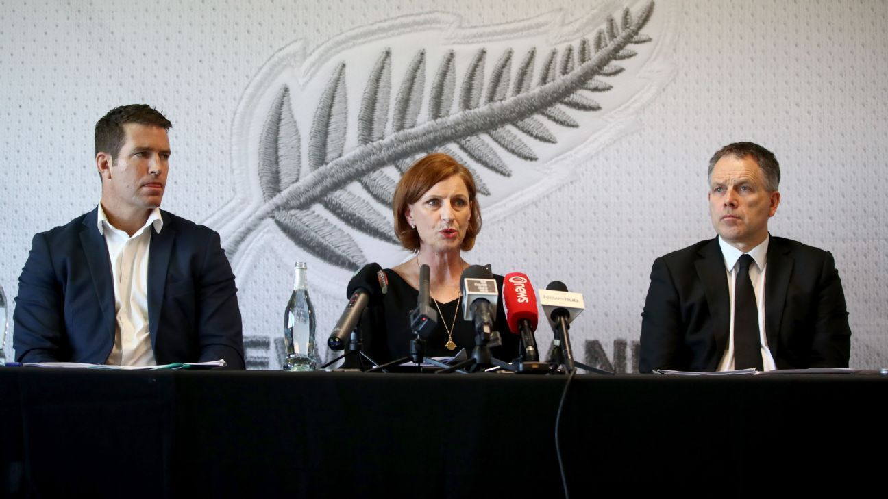 New Zealand Football president Deryck Shaw, right, has resigned