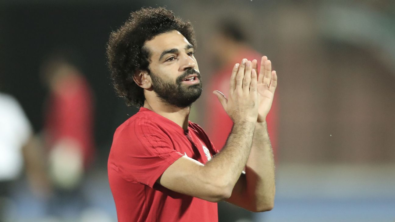 Mohamed Salah of Egypt during an Africa Cup of Nations qualifier