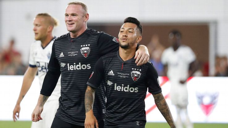 Rooney, left, and Acosta have formed a potent partnership and helped D.C. United get into the playoff picture.