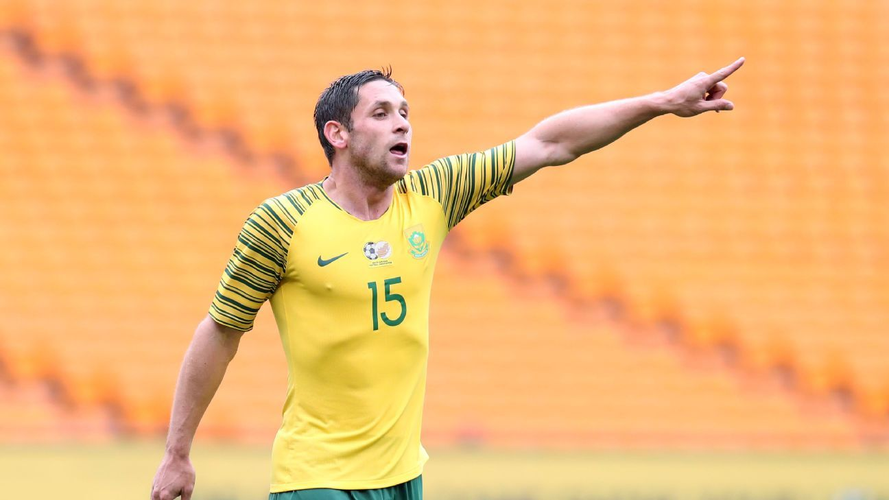 Dean Furman of South Africa in AFCON qualifying action