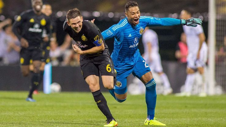 Trapp, left, and Steffen have been mainstays for the Crew, trying to remain focused amid talk of moving. Thankfully, it looks like the team's future is certain in Ohio.