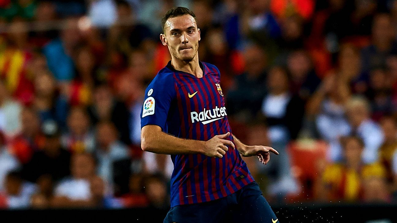 Barcelona have just four fit defenders after Thomas Vermaelen's injury.