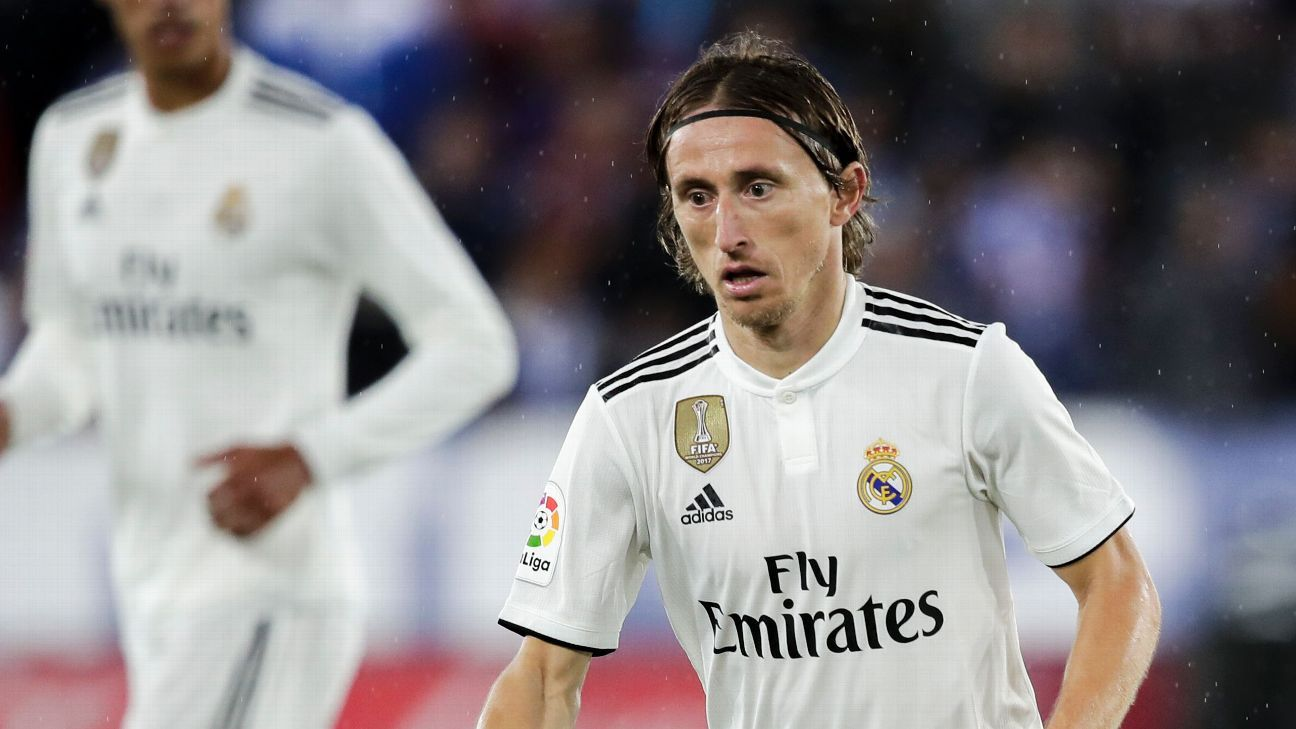 Luka Modric in action for Real Madrid