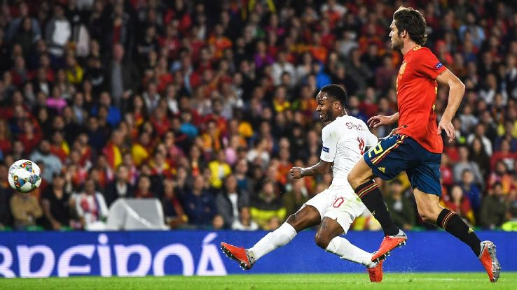 Raheem Sterling went three years between England goals before scoring two in a span of 16 minutes vs. Spain.