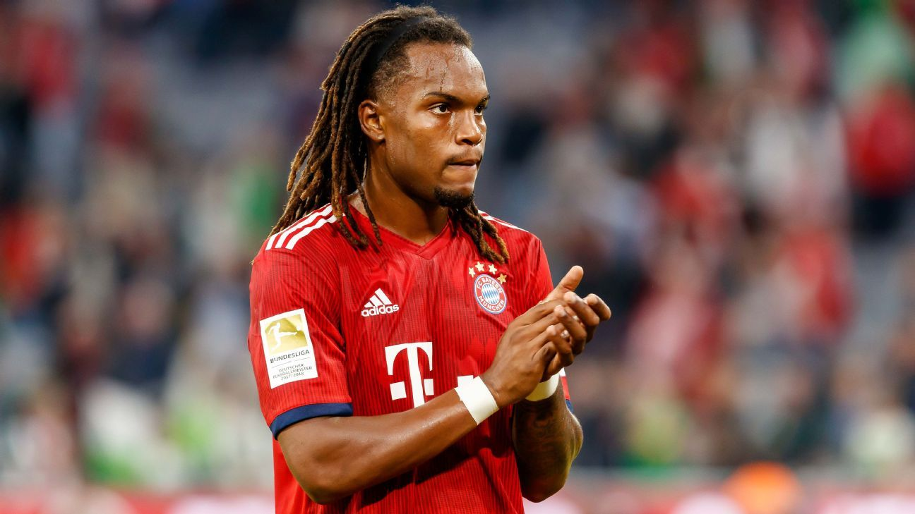 Renato Sanches in action for Bayern Munich