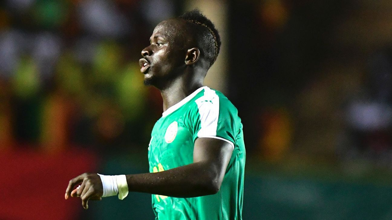 Sadio Mane in action for Senegal against Sudan.