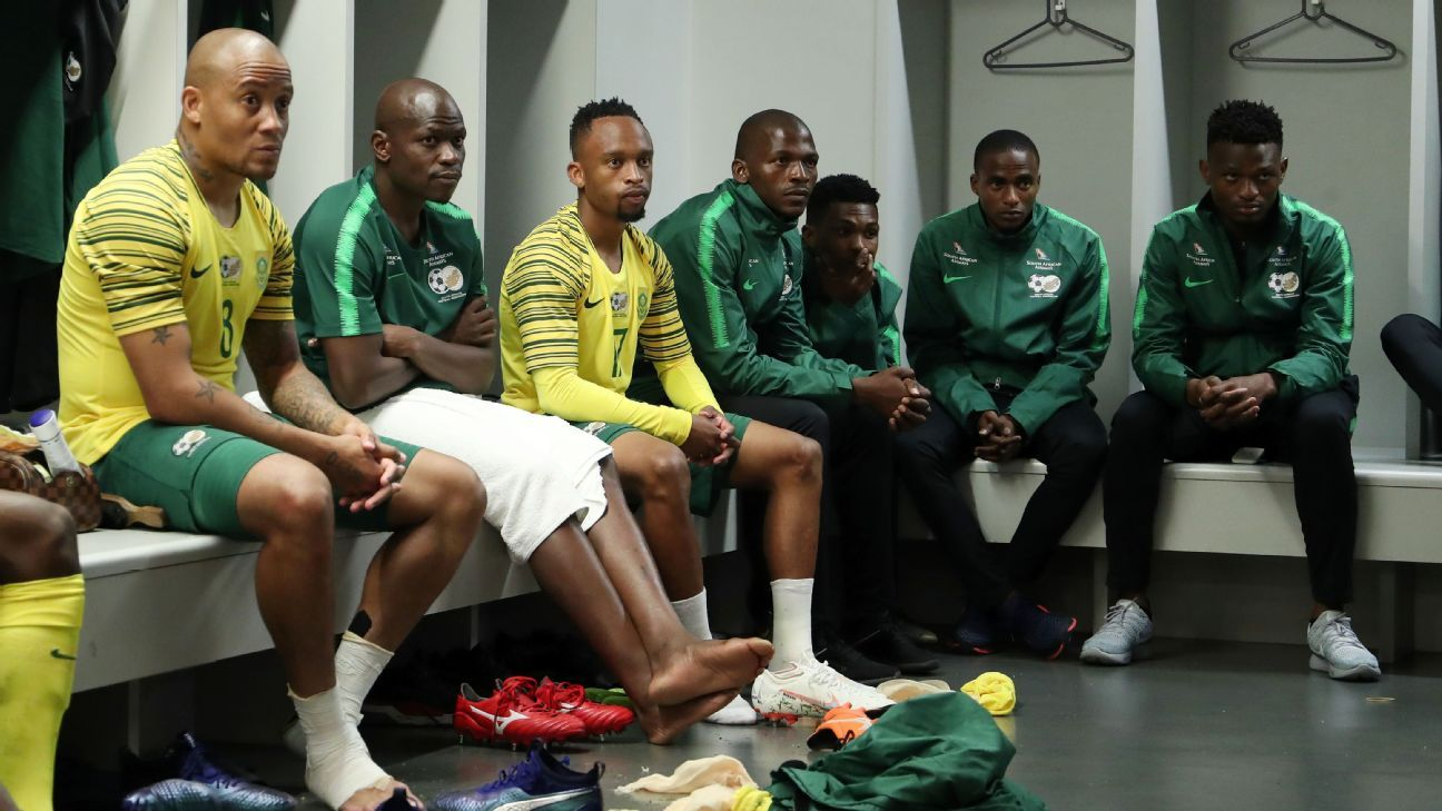 Bafana Bafana ahead of their AFCON qualifier with the Seychelles