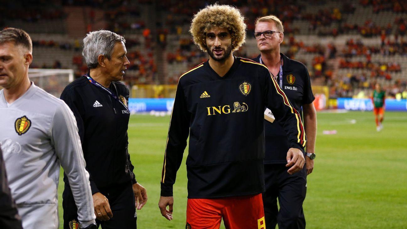 Belgium midfielder Marouane Fellaini