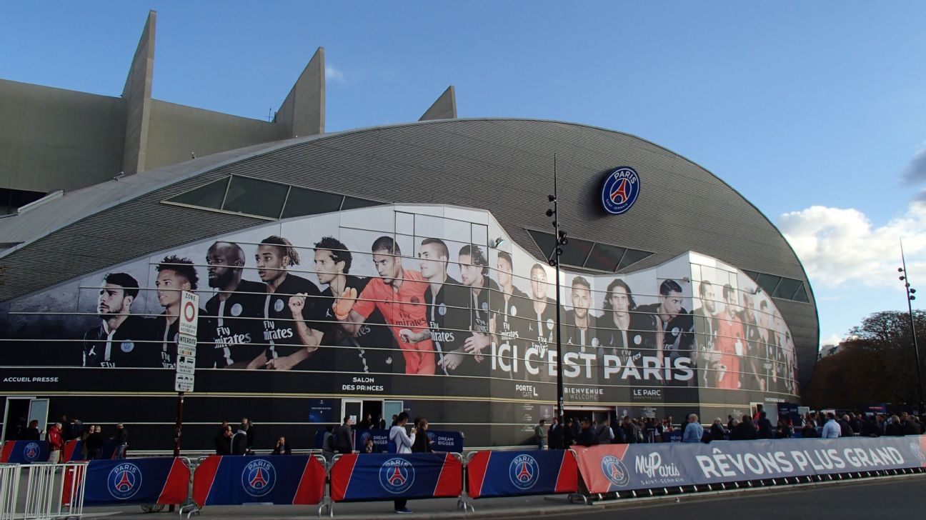 The Parc des Princes in Paris.