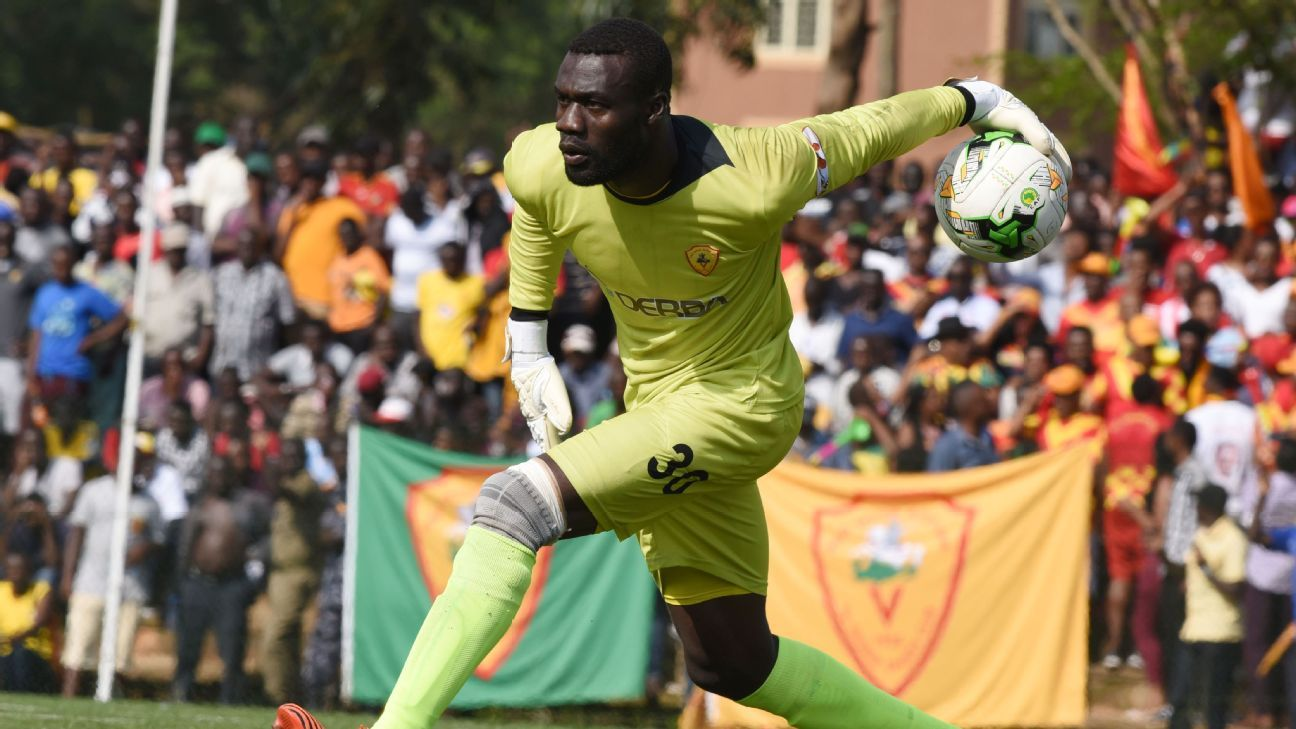 Uganda's Robert Odongkara in Ethiopian top flight action