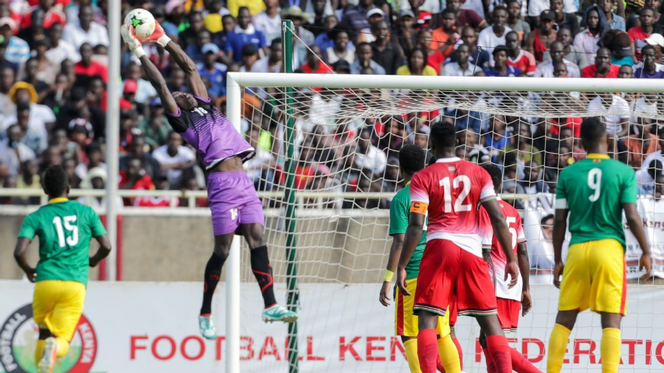 Kenya's Patrick Matasi in action vs. Ethiopia