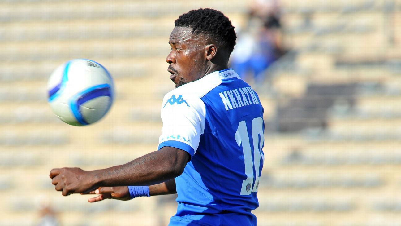 Kingston Nkhatha during his time with SuperSport United