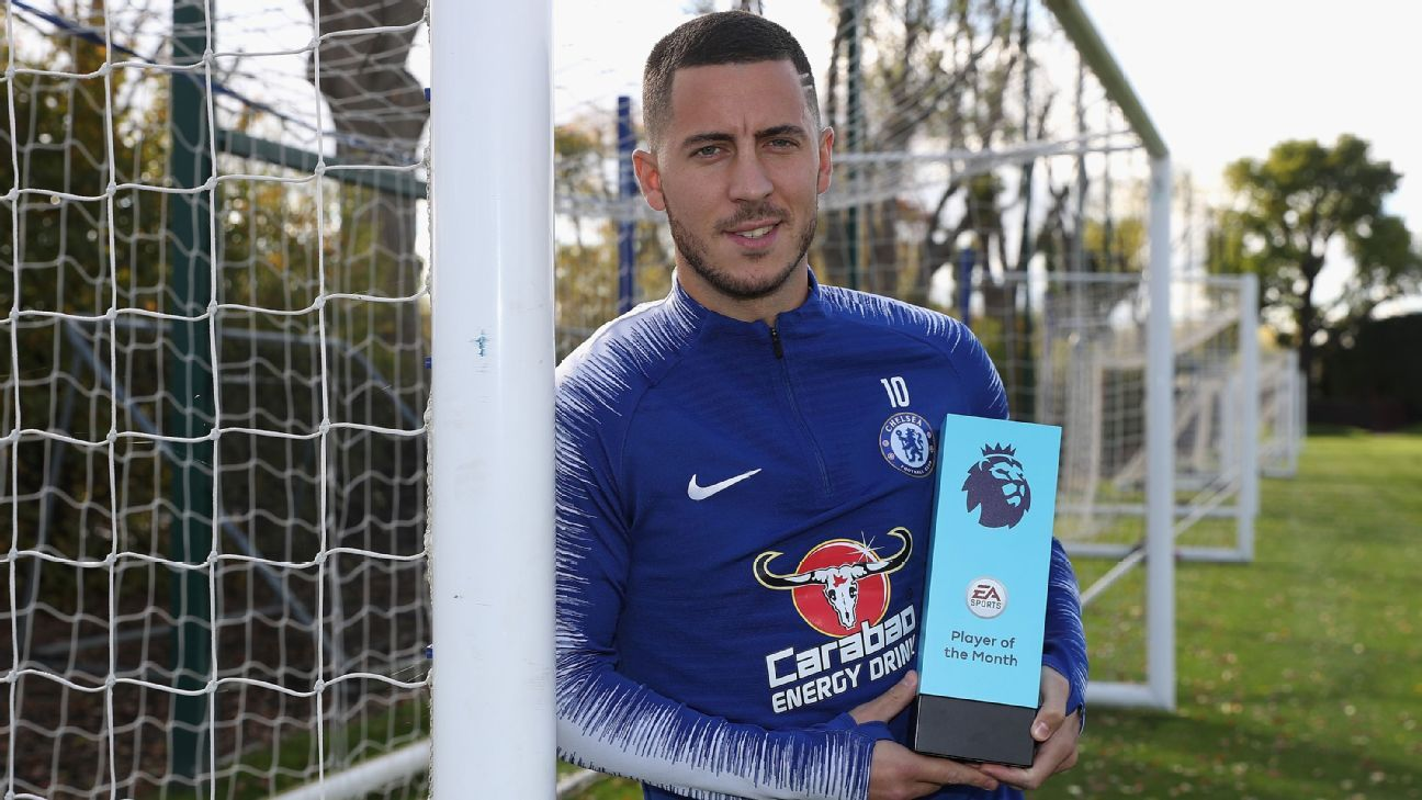Eden Hazard won the Premier League Player of the Month Award for September.
