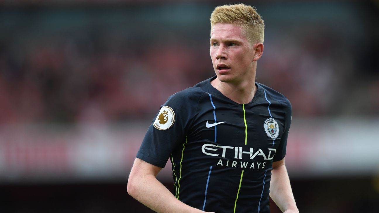 Kevin De Bruyne has not played since the opening day of the season when Manchester City beat Arsenal at the Emirates Stadium.