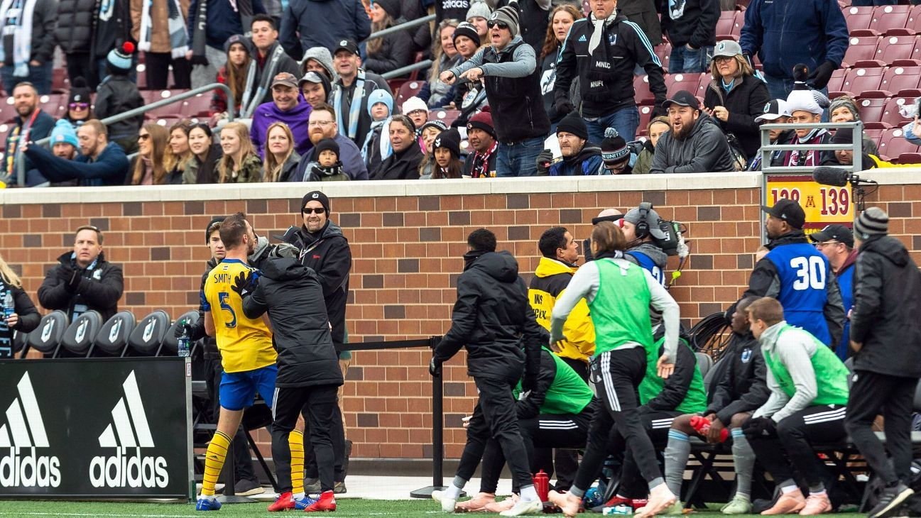 Minnesota's Miguel Ibarra push of Rapids defender Tommy Smith during Colorado's 2-0 win on Oct. 13 led to a confronation between both sides.
