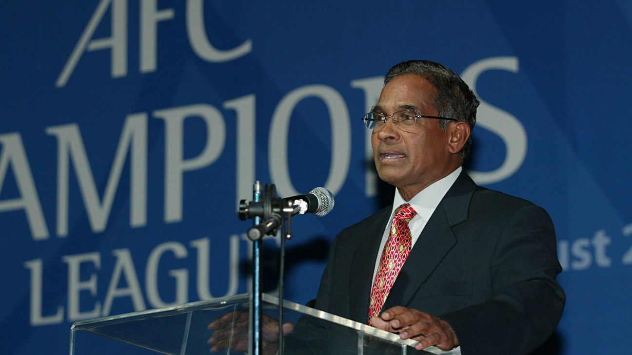 Peter Velappan, the former general secretary of the Asian Football Confederation, has died aged 83.