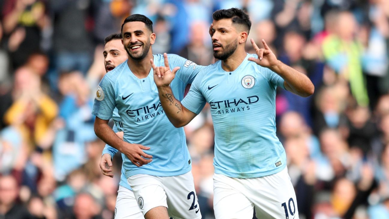 Sergio Aguero scored the opening goal for Manchester City against Burnley